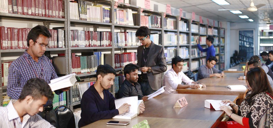 Students are studying in Library